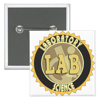 LAB BADGE LABORATORY SCIENCE PINBACK BUTTON