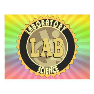 LAB BADGE LABORATORY SCIENCE POSTCARD