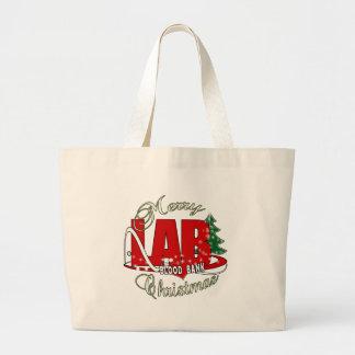 LAB BB BLOOD BANK MERRY CHRISTMAS LABORATORY LARGE TOTE BAG