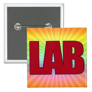 LAB - BIG RED BOLD MEDICAL LABORATORY LOGO BUTTON
