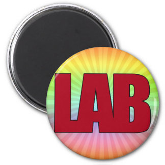 LAB - BIG RED BOLD MEDICAL LABORATORY LOGO FRIDGE MAGNETS