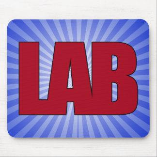 LAB - BIG RED BOLD MEDICAL LABORATORY LOGO MOUSE PAD