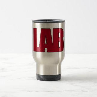 LAB - BIG RED BOLD MEDICAL LABORATORY LOGO MUG