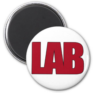 LAB BIG RED LETTERS LABORATORY MAGNET