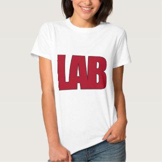 LAB BIG RED LETTERS LABORATORY T SHIRT