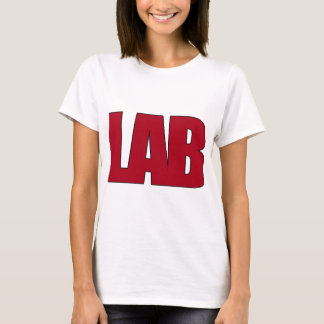 LAB BIG RED LETTERS LABORATORY T-Shirt