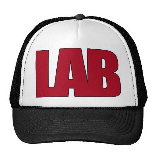LAB BIG RED LETTERS LABORATORY TRUCKER HAT