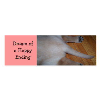 Lab bookmarks:  Dream of a HappyEnding Double-Sided Mini Business Cards (Pack Of 20)