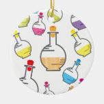 Lab bottle pattern ornaments