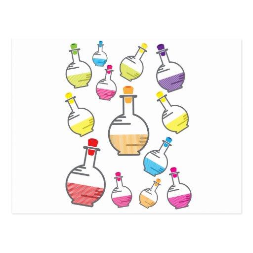 Lab bottle pattern post card