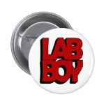 LAB BOY BIG RED LABORATORY PINBACK BUTTONS