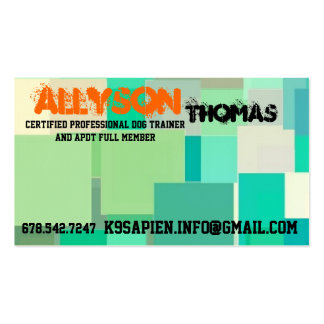 Lab Brittany mix Pup for Positive Training Business Card