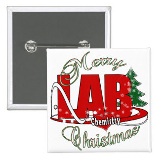 LAB CHEMISTRY CHRISTMAS PINBACK BUTTONS
