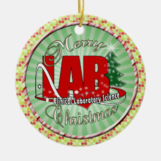 LAB CHRISTMAS CLINICAL LABORATORY SCIENCE CERAMIC ORNAMENT