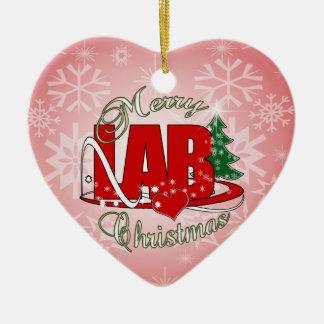 LAB CHRISTMAS LABORATORY CERAMIC ORNAMENT