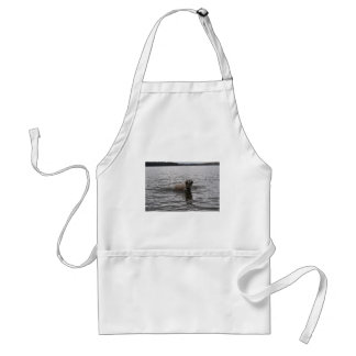 Lab Dog in water Adult Apron