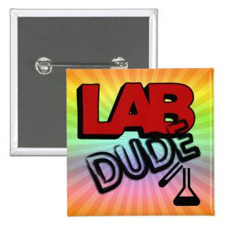 LAB DUDE - LABORATORY 2 INCH SQUARE BUTTON
