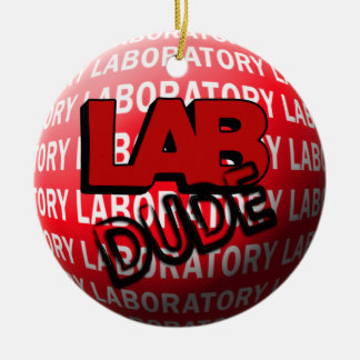 LAB DUDE SPHERE CHRISTMAS ORNAMENT