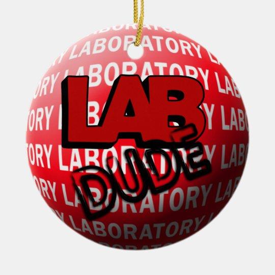 LAB DUDE SPHERE CHRISTMAS ORNAMENT