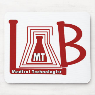 LAB FLASK LOGO MT - MEDICAL TECHNOLOGIST MOUSE PAD