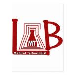 LAB FLASK LOGO MT - MEDICAL TECHNOLOGIST POSTCARD