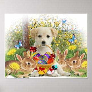 Lab & Friends Easter Egg Hunt Poster