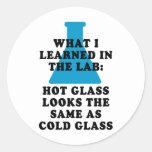 Lab Glass Classic Round Sticker