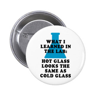 Lab Glass Pinback Button