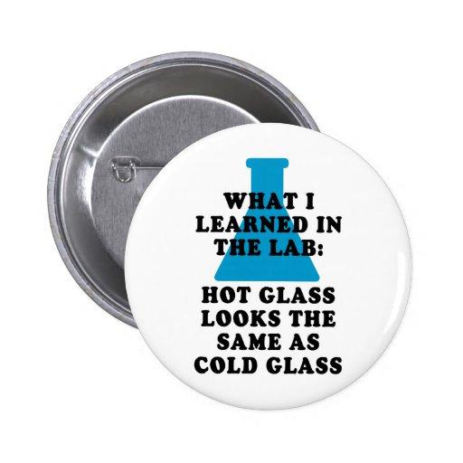 Lab Glass Pinback Button