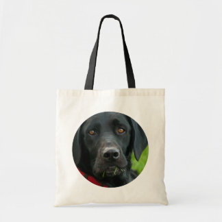 Lab Grass for Lunch Black Lab Tote