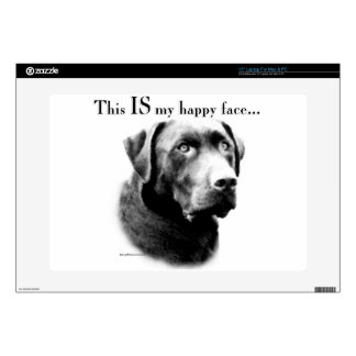 Lab Happy Face Laptop Decal