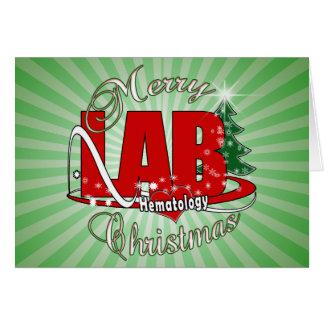 LAB HEMATOLOGY CHRISTMAS CARD