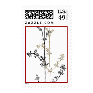 Lab herb postage stamps