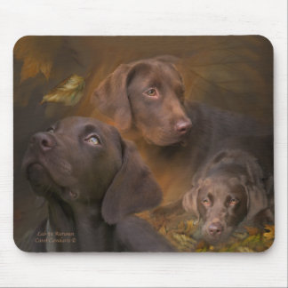 Lab In Autumn Mousepad