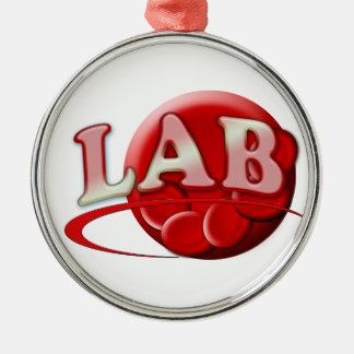 LAB (LABORATORY) Red Blood Cell CHRISTMAS ORNAMENT