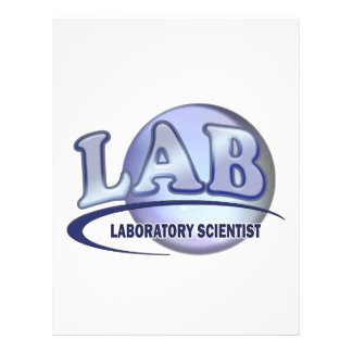 LAB - LABORATORY SCIENTIST! Fun Blue LOGO Customized Letterhead