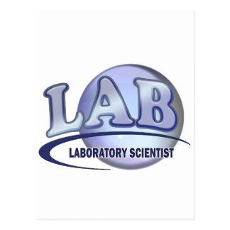 LAB - LABORATORY SCIENTIST! Fun Blue LOGO Postcard