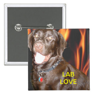 LAB LOVE W/FLAMES BUTTON