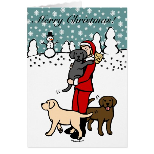 Lab Mom Santa Christmas 2 Card