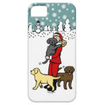 Lab Mom Santa Christmas iPhone 5 Cases