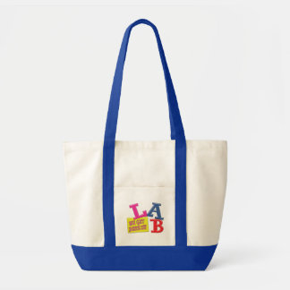 LAB MOTTO LABORATORY WE GET RESULTS! TOTE BAG