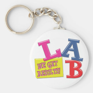 LAB MOTTO - WE GET RESULTS - MEDICAL LABORATORY KEYCHAIN
