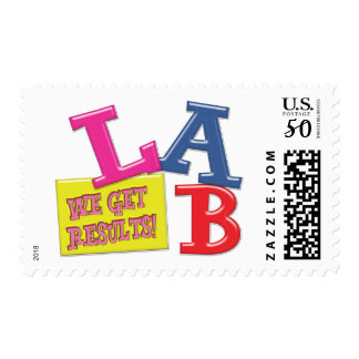 LAB MOTTO - WE GET RESULTS - MEDICAL LABORATORY POSTAGE