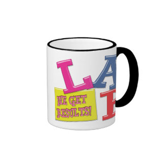 LAB MOTTO - WE GET RESULTS - MEDICAL LABORATORY RINGER COFFEE MUG