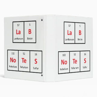 Lab Notes - Periodic Table Binder