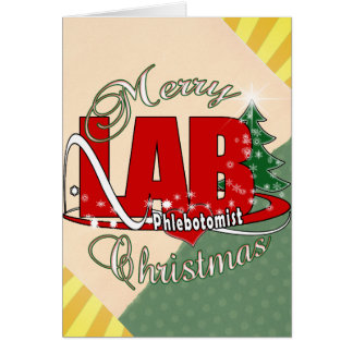 LAB PHLEBOTOMIST CHRISTMAS GREETING CARDS
