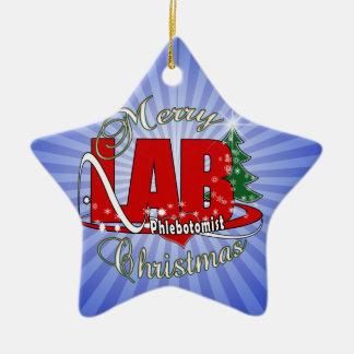 LAB PHLEBOTOMIST CHRISTMAS CERAMIC ORNAMENT