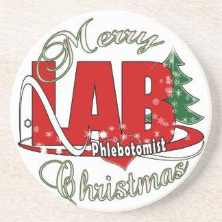 LAB PHLEBOTOMIST CHRISTMAS DRINK COASTERS