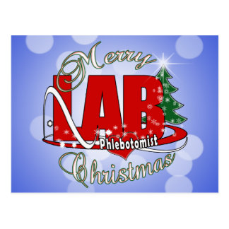 LAB PHLEBOTOMIST CHRISTMAS POST CARDS