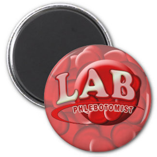LAB PHLEBOTOMIST RBC LOGO MAGNET